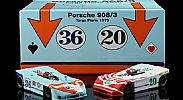 Nsr-SET09-2.2 Limited Edition PORSCHE 908/3 TARGA FLORIO 1970 TWIN SET ELFORD AT