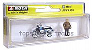 Noch 15915 OO/HO Scale Classic Bikes BMW R90/6 MOTORBIKE - WITH RIDER