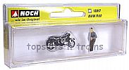 Noch 15917 OO/HO Scale Classic Bikes BMW R60 MOTORBIKE - WITH RIDER