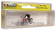 Noch 15913 OO/HO Scale Classic Bikes MOTO GUZZI 850 LE MANS MOTORBIKE - AND RIDER