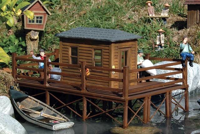 Brads fishing cabin piko 62262 model railway kits uk for Fishing cabin kits