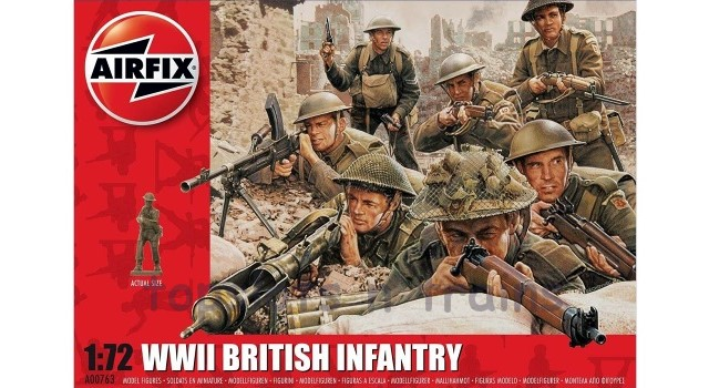 Airfix A00763 1/72 Scale Figures - WW2 BRITISH INFANTRY NORTHERN EUROPE X 48 SOLDIERS