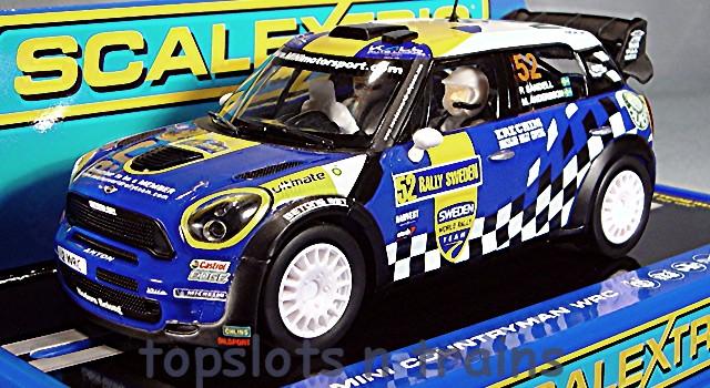 Bmw Mini Countryman Scalextric C3401 Wrc Slot Cars Topslots N Trains