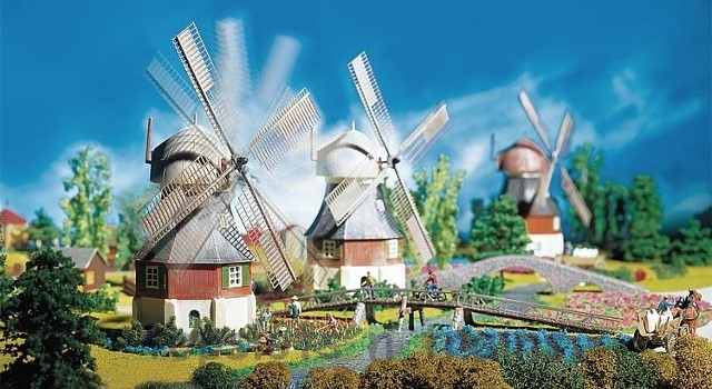 Faller 130233 OO/HO Scale Model Kit - WINDMILL WITH MOTOR - ERA I
