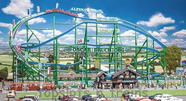 Faller 140410 OO/HO Scale Fairground Model Kit - ALPINA-BAHN ROLLERCOASTER VI – WITH MOTOR