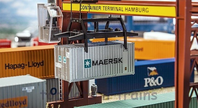 Faller 180820 OO/HO Scale Model - 20FT SHIPPING CONTAINER – MAERSK