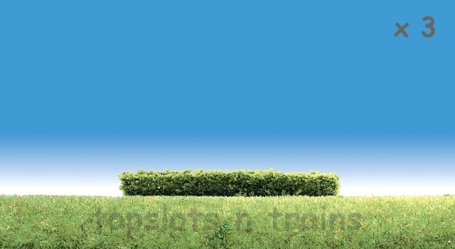 Faller 181398 OO/HO/N Scale - 3 X PREMIUM HEDGES - LIGHT GREEN