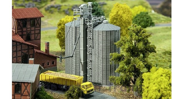 Faller Grain Silos 222216 N Scale at TopSlots n Trains