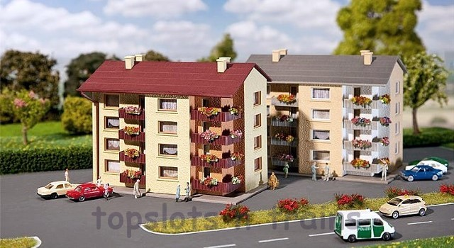 Faller 232304 Apartment Buildings x 2 N Scale at TopSots n