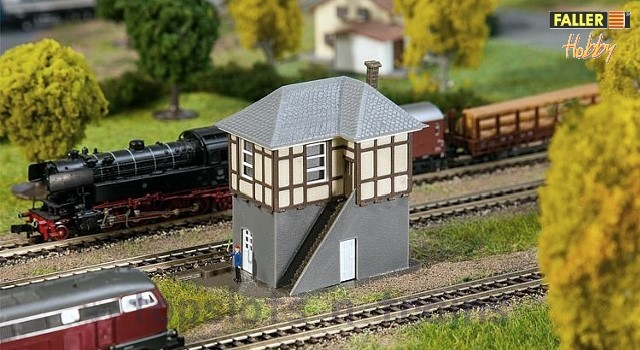 Faller 232530 N Scale Model Kit - HOBBY SERIES - BLOCK POST – WITH SIDE STAIRCASE