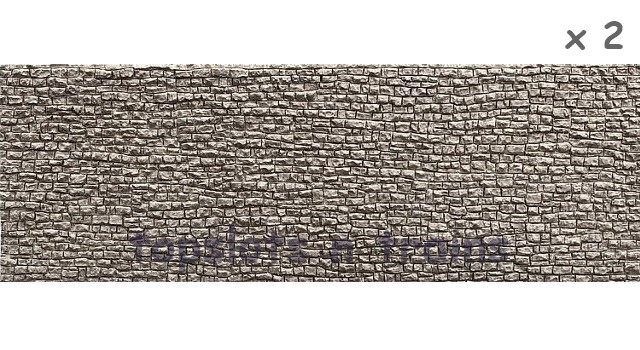 Faller 272653 N Scale Decorative Panel - 2 X DRY WALL DECORATIVE PANELS - 370 x 125 x 6 mm