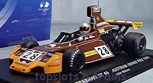 FlySlot 062103 - BRABHAM BT44 GP F1 1974 JOHN WATSON HEXAGON RACING
