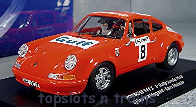 Flyslot 036108   PORSCHE 911 RALLY SWEDEN 1969 GULF