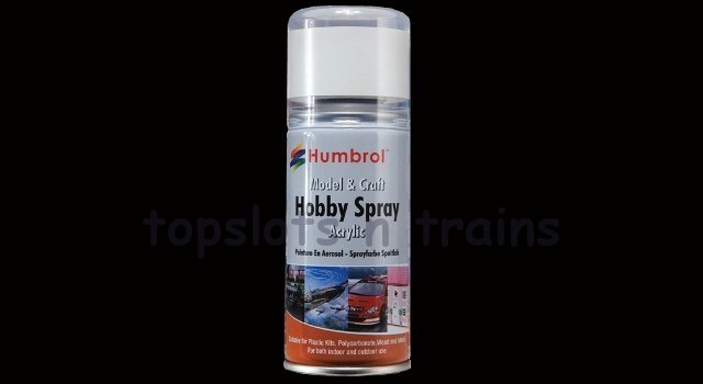 Humbrol 301 Black Metallic Spray Paint Ad6201 At Topslots N Trains