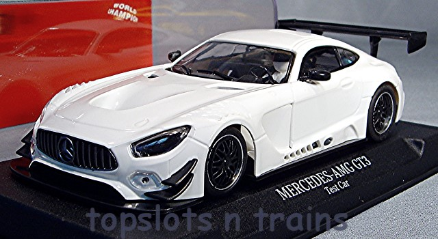 Nsr-0092-AW - MERCEDES AMG GT3 TEST SLOT CAR WHITE ANGLEWINDER