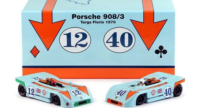 Nsr-SET09 Limited Edition - GULF PORSCHE 908/3 TARGA FLORIO 1970 TWIN SET