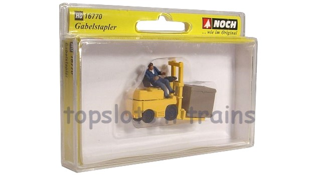 Noch 16770 OO/HO Scale Hand-Painted Figures - FORK LIFT TRUCK SET