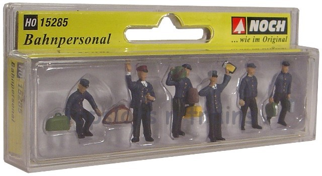 Noch 15285 OO/HO Scale Hand-Painted Figures - TRAIN PERSONNEL – PACK OF