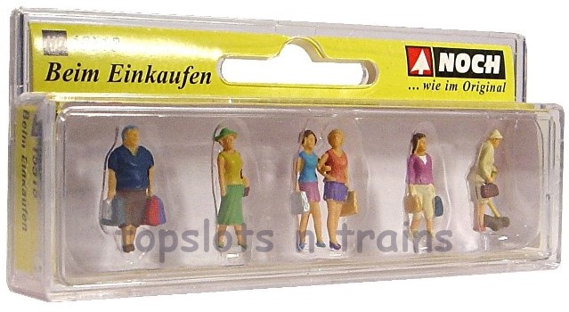 Noch 15518 Shopping 6 x Figures OO/HO Scale at TopSlots n Trains