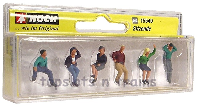 Noch 15540 Sitting People x 6 Figures OO/HO Scale at
