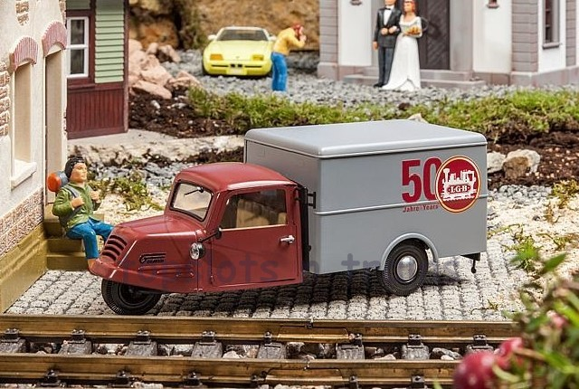 Pola 331611 G Scale - GOLIATH GD 750 BOX VAN - LTD - LGB ANNIVERSARY