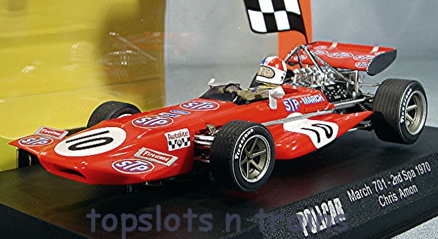 Slot.It Policar SI-CAR04A - MARCH 701 F1/GP 1970 BELGIAN CHRIS AMON STP MARCH