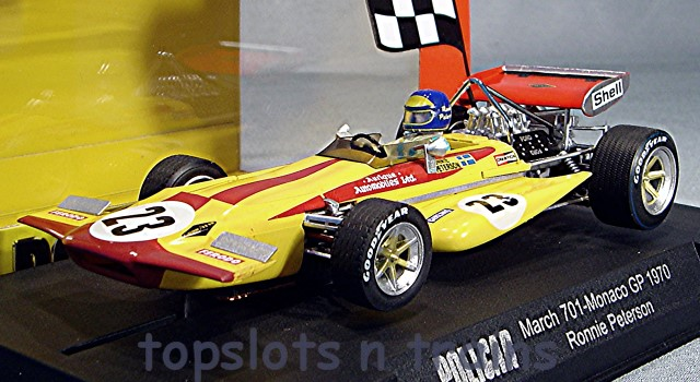 Slot.It Policar SI-CAR04C - MARCH 701 F1 GP MONACO 1970 RONNIE PETERSON