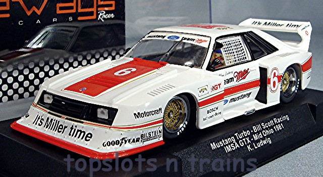 Ford Mustang Turbo Racer Sw46 Its Miller Time Slot Cars At Topslots