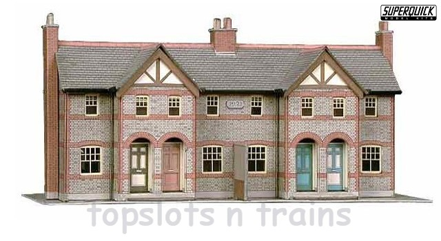 4 Terraced Houses Card Kit OO/HO Scale SuperQuick at TopSlots n Trains