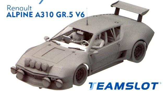 Teamslot Renault Alpine A310 V6 Gr 5 Kit-008 Slot Car Kits at TopSlots