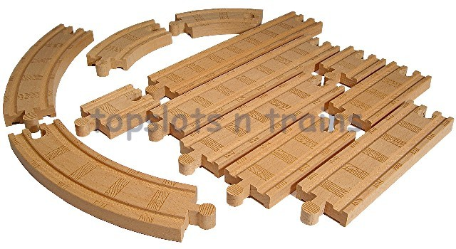 Wooden Railway Straight Curved Track Pack At Topslots N Trains