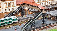 Faller 120109 OO/HO Scale Model Kit COVERED PEDESTRIAN FOOTBRIDGE