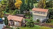 Faller 120113 OO/HO Scale Model Kit SIGNAL TOWER AND GOODS SHED KIT III