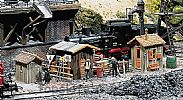 Faller 120140 OO/HO Scale Model Kit 3  X TRACKSIDE HUTS / SHEDS