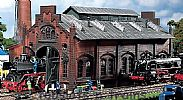Faller 120159 OO/HO Scale Model Kit LOCOMOTIVE SHED / ENGINE WORKSHOP