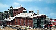 Faller 120161 OO/HO Scale Model Kit ENGINE SHED - FOR 2 LOCOS UP TO 190 MM OVER BUFFER