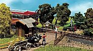 Faller 120170 OO/HO Scale Model Kit DIRT ROAD CROSSING - WITH GATEKEEPERS HOUSE