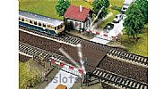 Faller 120174 OO/HO Scale Model Kit ELECTRIC LEVEL CROSSING - WITH GATEKEEPERS HOUSE