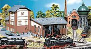 Faller 120176 OO/HO Scale Model Kit 3-STALL ROUNDHOUSE EXTENSION