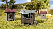 Faller 120211 OO/HO Scale Model Kit 3 X LINESIDE BUILDINGS - EQUIPMENT SHEDS