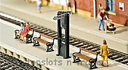 Faller 120233 OO/HO Scale Model Kit TRAIN DESTINATION DISPLAYS - WITH BENCHES