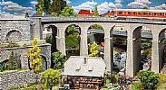 Faller 120466 OO/HO Scale Model Kit TWO TRACK CURVED VIADUCT SET