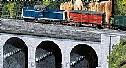 Faller 120478 OO/HO Scale Model Kit TOP SECTION OF STONE VIADUCT - CURVED