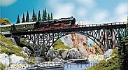 Faller 120541 OO/HO Scale Model Kit DECK ARCH BRIDGE - LENGTH 355 mm
