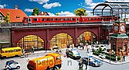 Faller 120571 OO/HO Scale Model Kit RAILWAY ARCHES WITH SHOPS AND INTERIORS