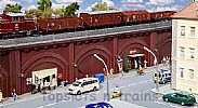 Faller 120572 OO/HO Scale Model Kit RAILWAY ARCHES WITH SHOPS