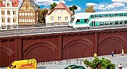 Faller 120573 OO/HO Scale Model Kit RAILWAY ARCHES WITH A TRACK BED