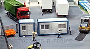 Faller 130132 OO/HO Scale Model Kit 2 X PORTABLE CABINS V - OFFICE TRAILERS