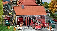 Faller 130162 OO/HO Scale Model Kit FIRE BRIGADE ENGINE HOUSE