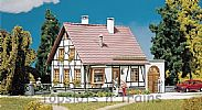 Faller 130215 OO/HO Scale Model Kit HALF-TIMBERED HOUSE WITH GARAGE